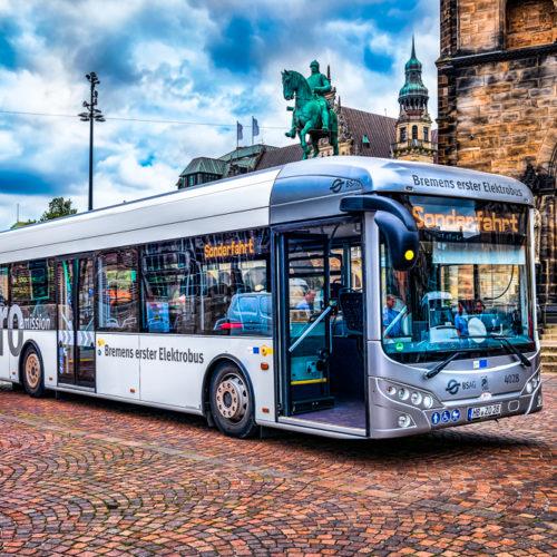 Elektrobus der BSAG