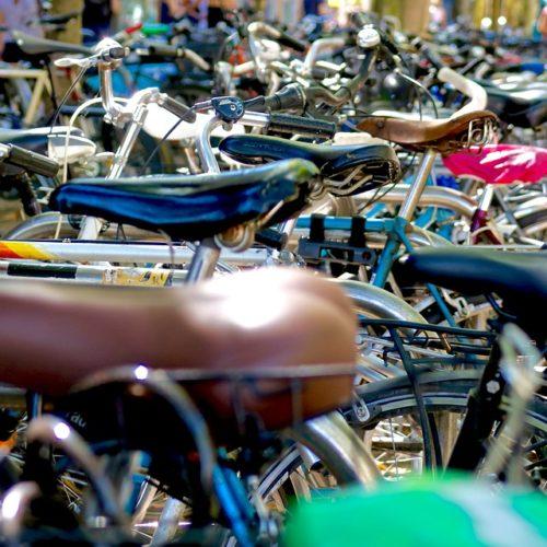 Fahrräder in der Innenstadt