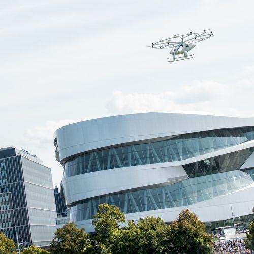 Erster Flug eines Volocopters in Europa